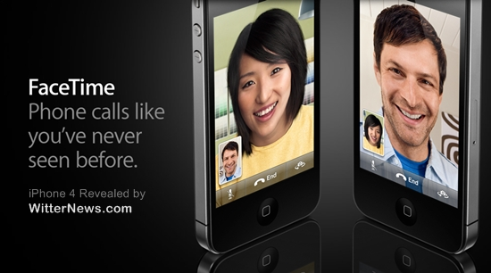 FaceTime video calling on iPhone 4